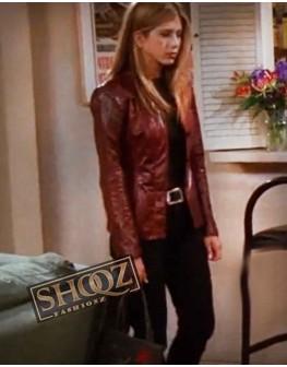 Jennifer Aniston Friends Rachel Green Brown Leather Jacket