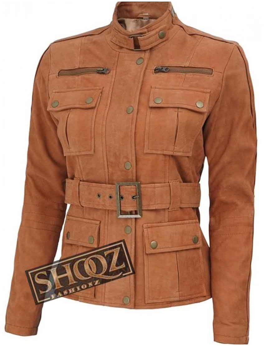 Carolyn Hax Women (Tan) Leather Jacket