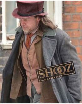 Guy Pearce A Christmas Carol Ebenezer Scrooge Wool Trench Coat