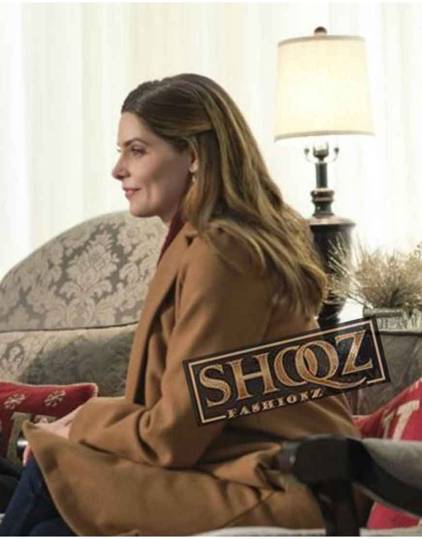 Holly A Little Christmas Charm Ashley Greene Trench Coat