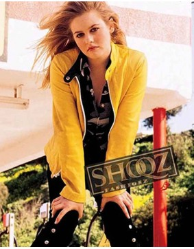Alicia Silverstone Emily Excess Baggage Leather Jacket