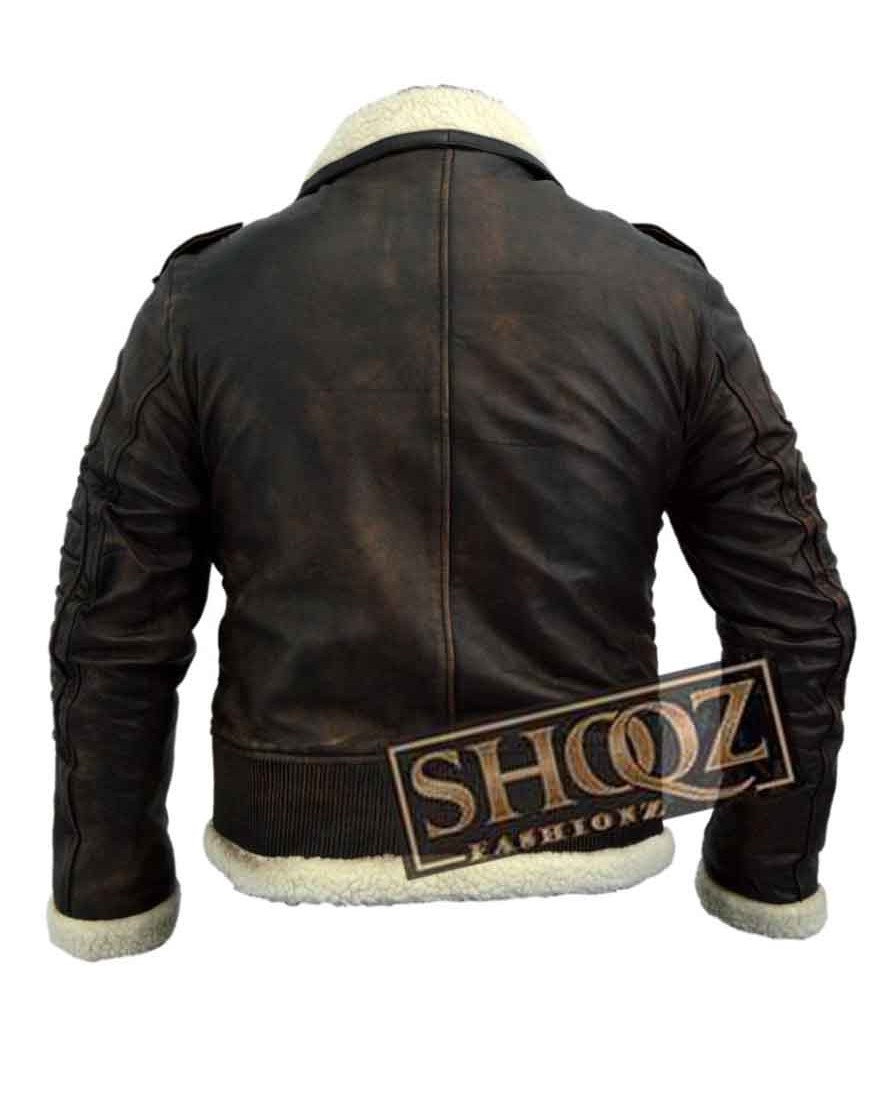 Armor Fallout 4 Bomber Brown Fur Lined Leather Jacket