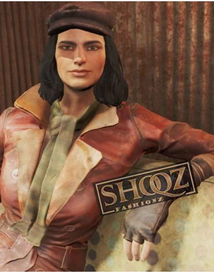 Fallout 4 Piper Wright Double Breasted Leather Coat