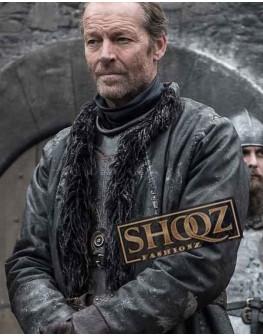 Iain Glen Game of Thrones Jorah Mormont Leather Coat