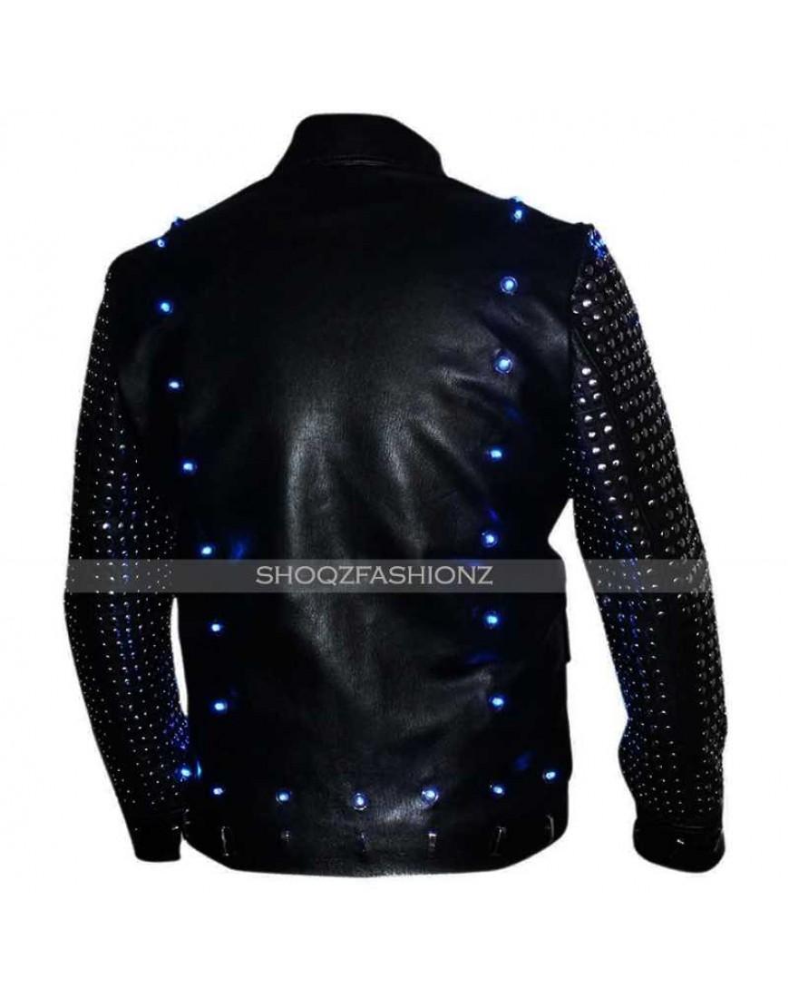 Chris Jericho Light Up 100% Leather Jacket