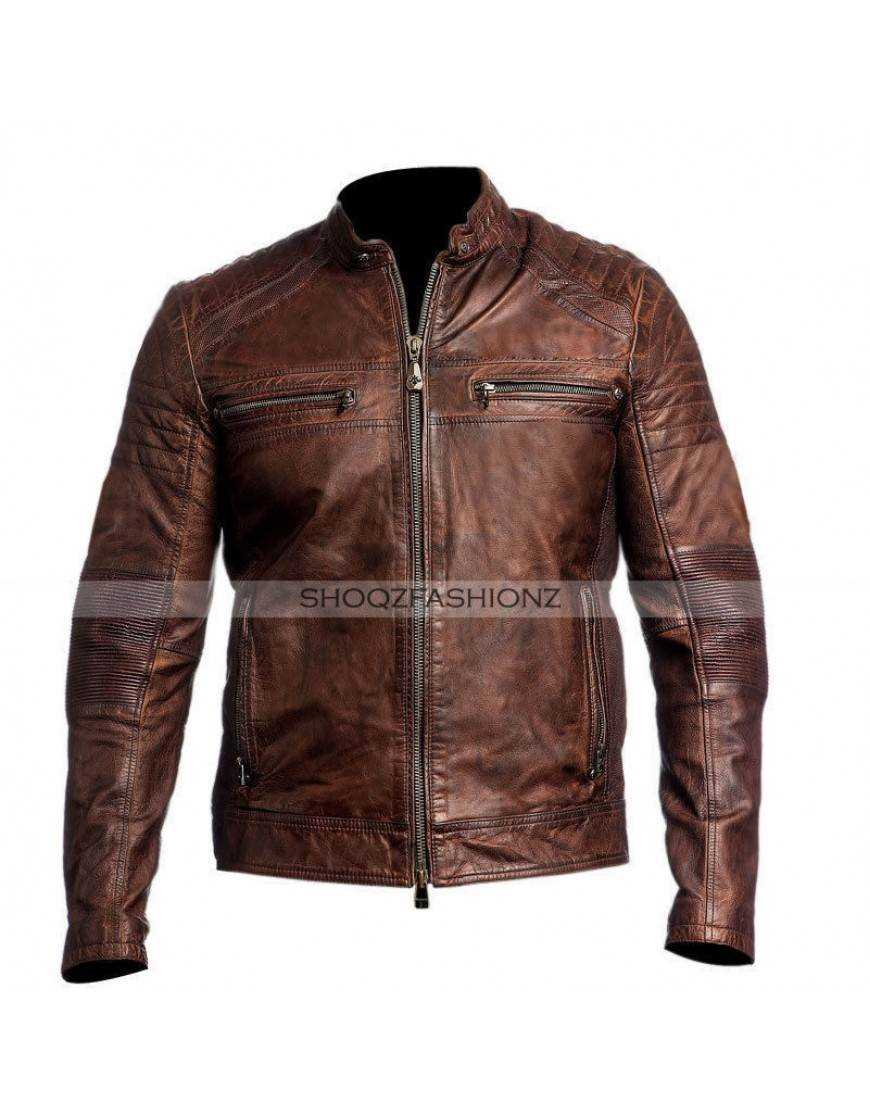 Men's Cafe Racer Brown Jacket
