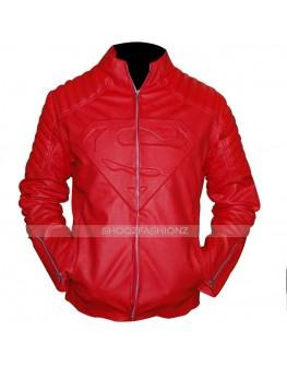 Superman Smallville Clark Kent Red Leather Jacket