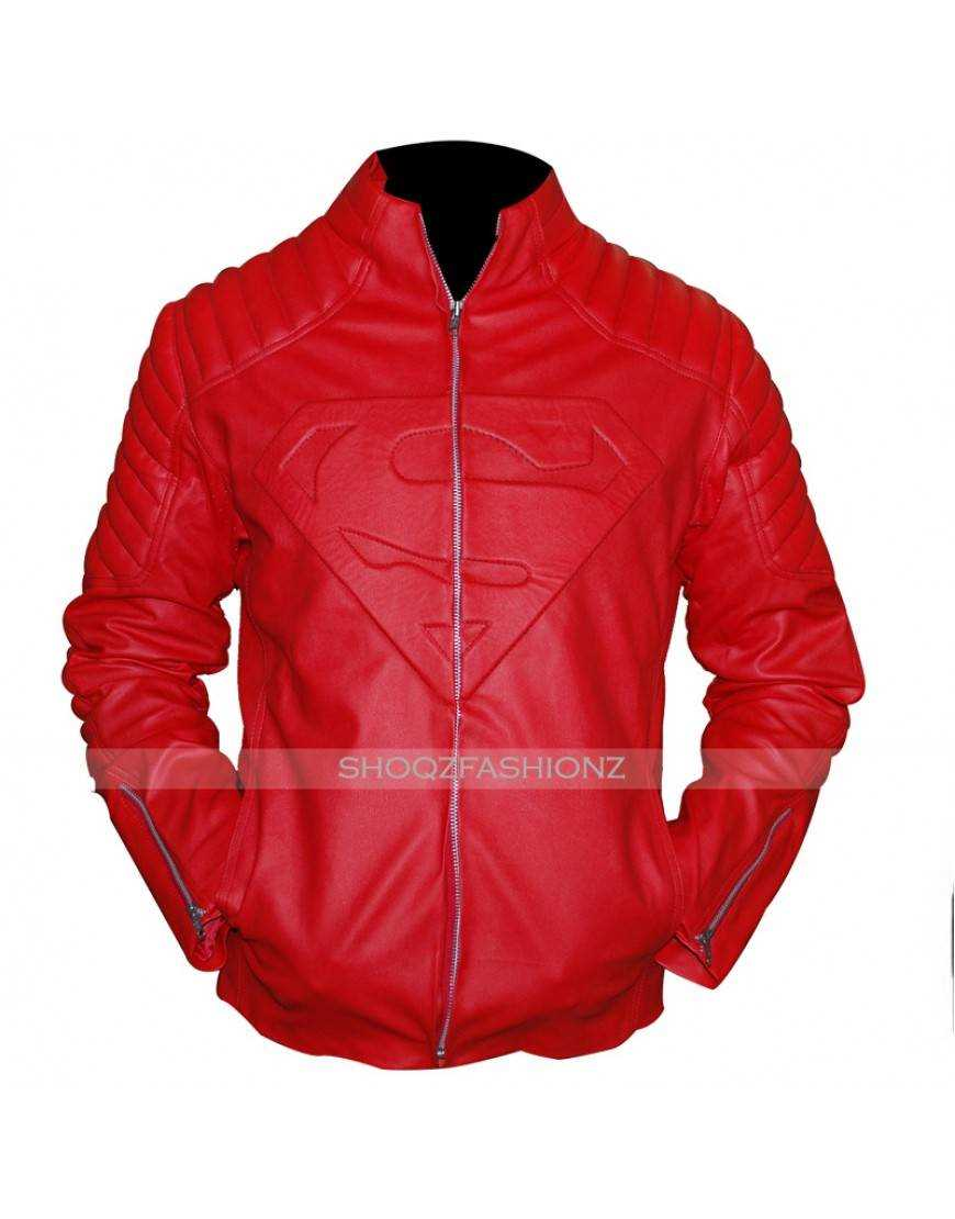 Superman Smallville Clark Kent Red Leather Jacket
