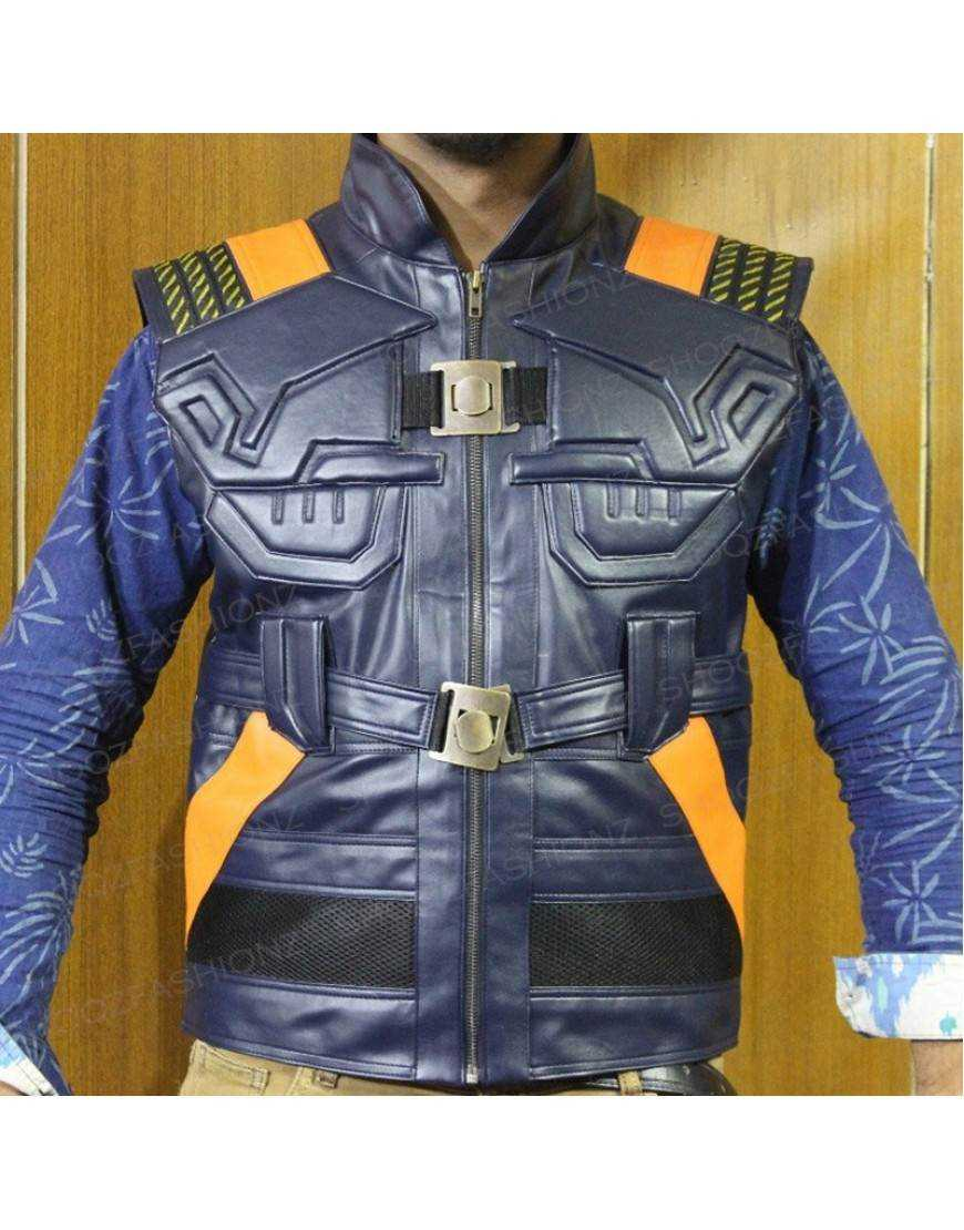 Avengers faux leather vest