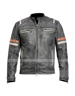 Vintage Black Distressed Retro 2 Classic Jacket