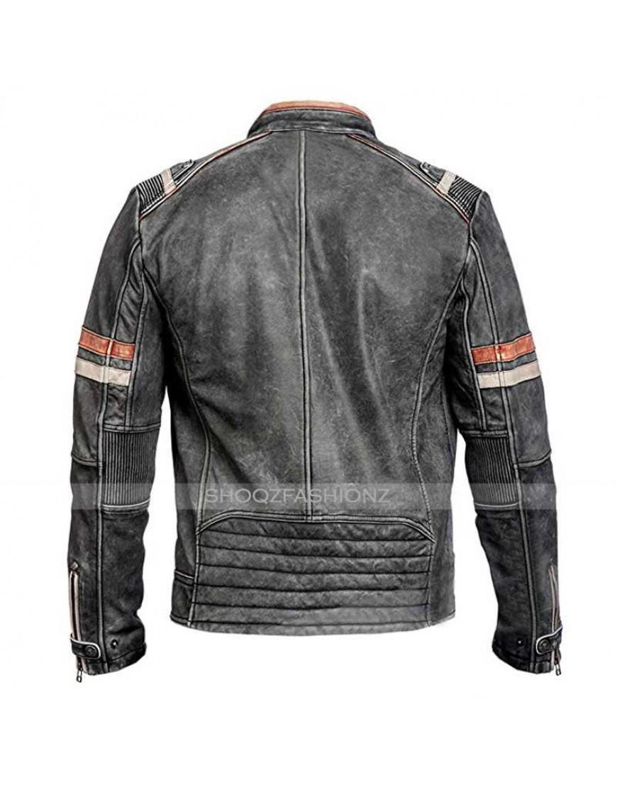 Vintage Black Distressed Retro 2 Classic Jacket